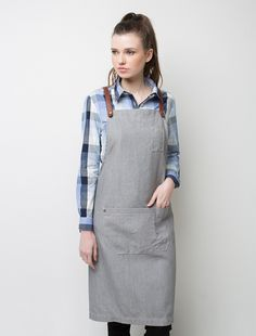 Our Henry Bib Apron in light grey Pebble is one of the heroes of our cross-back apron range. Made from durable, hard working Fight the Fade™ fabric this canvas apron will outlast and out style all your competitors. Put it to work for in your cafe or shop. Waiter Uniform, Uniform Shop, Clothes Words, Cafe Apron, Restaurant Uniforms, Bib Apron, Apron Diy, Work Aprons, Apron