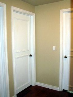 Old Doors Makeover, How to Add Panels to Plain Doors