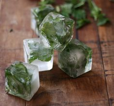 How To: Mint Infused Ice Cubes