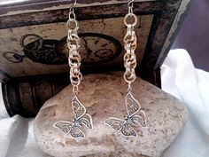 Sterling Silver Butterfly Earrings  Silver by LittleCoveCreations, $36.50