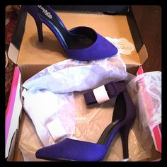 Deep Plum Valentina heels Never worn, brand new plum heel, tags and stuffing still in tact Shoes Heels