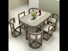 Space Saving Dining Table, Dinning Table Design, Unique Dining Tables, Wooden Dining Tables, Dining Table Chairs, Bedroom Furniture Design, Home Decor Furniture, Unique Furniture, Kitchen Furniture