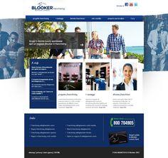 #Franchising #abbigliamento uomo Blooker.  Sito web realizzato da Estensa