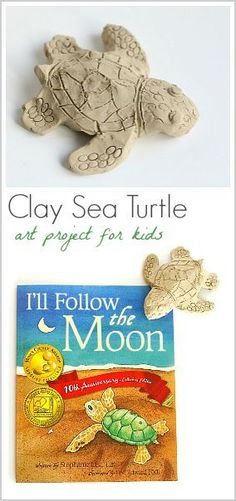 Ocean Art Activity for Kids: Clay Sea Turtles (inspired by I'll Follow the Moon)- Perfect for a sea life unit! (Next Generation Science Standard Kindergarten: NGSS K-ESS3-1) ~ BuggyandBuddy.com