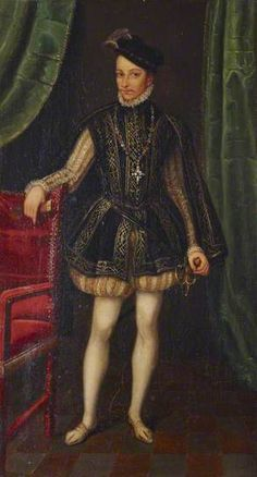 Charles IX (1550–1574), King of France. Francois Clouet.  at National Trust, Anglesey Abbey Quy Road Lode, Cambridge, Cambridgeshire,
