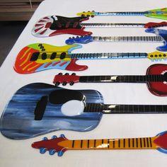 Fused Glass Guitars