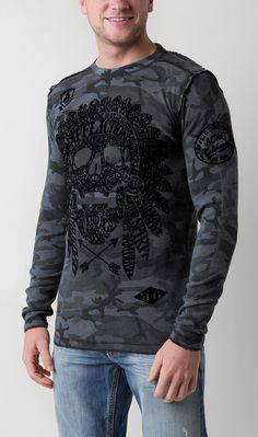 Affliction Worldskull Reversible Thermal Shirt - Men's Shirts | Buckle