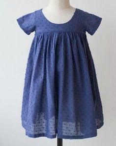 Blue Swiss Dotted Cotton Dress -- Hancock fabrics just had Swiss dot on sale... Need to check if they still do