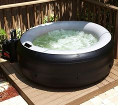 EZ Spa Portable Hot Tub – $650..... Wow I want one this winter if it will work for the deck.