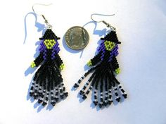 Seed Beaded Wicked Witch Brick Stitched Dangle by fantasybeader, $18.00