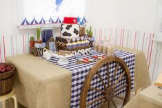cowboy party look at this Ernest-Angela Altomari! Cowboy Party, Cowboy Birthday Party, Horse Party, 1st Birthday Parties, Woody Y Jessie, Wild West Party, Western Parties, Cowboys And Indians, Indian Party