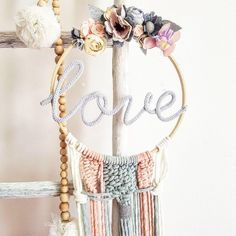 Ahhhhh lovee😍😍😍 missing u love😘😘 Name Decorations, Handmade Decorations, Handmade Crafts, Crafts To Make And Sell, Diy And Crafts, Dreams Catcher, Making Dream Catchers, Embroidery Hoop Crafts, Floral Hoops