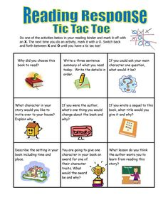 Five Minute Reading Responses Blogs, Tweets (not really, but cute), Tic-tac-Toe, 3-2-1, and many other quick reading responses.
