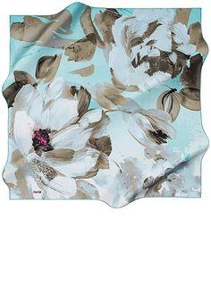 Aker 7343713-951 / İpek Tivil Eşarp / 90X90 Head Scarfs, Silk Art, Silk Painting, Square Scarf, Pattern Art, Hijab Fashion, Ideas Para, Textiles, Tapestry