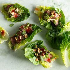 Seared Steak Lettuce Cups recipe | Epicurious.com