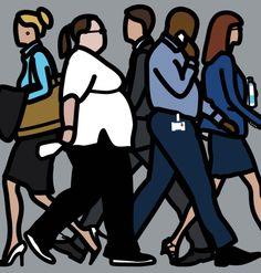 (usa) Street, 2014 by Julian Opie Usa Street, Painting Collage, A Level Art, Love Illustration, London Art, People Art, Figurative Art, Cool Artwork, Installation Art