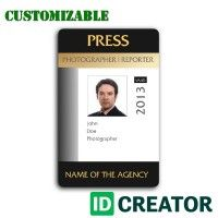 15 Best Press Pass Images Card Templates Paper Patterns Id Card