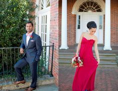 Valentine's Day inspiration shoot from Dogwood Events. Photography by Kristen Gardner Photography. Flowers by Holly Chapple Flowers. Dress from Fabulous Frocks of Alexandria. Suit from Christopher Schafer Clothiers. Beauty by Amie Decker Beauty. #Valentine #wedding #bride #dress #bouquet #groom #red #blue #Virginia