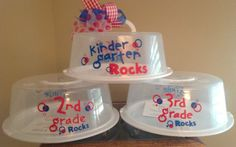 School Days Personalized Cake Carriers but this could be done for so many other times like holidays