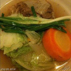 晩ご飯はこれ #dinner #nilagang #baka #beef #soup #food #philippines #フィリピン #ビーフ #スープ
