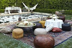 Après Fête: Moroccan themed party with lots of poufs