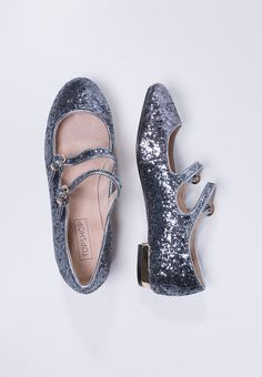 Topshop - FIZZ - Ballerine con cinturino - silver Mary Janes, Topshop, Flats, Silver, Accessories, Shopping, Shoes, Fashion, Loafers & Slip Ons