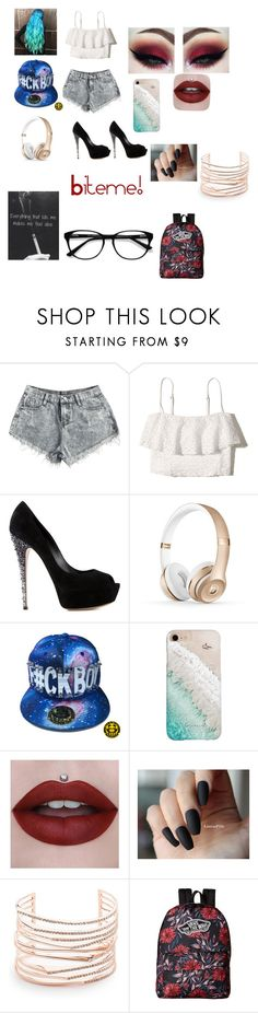 """She's bad on the outside but she really just needs to be loved 🌹"" by jasmineloftin ❤ liked on Polyvore featuring Hollister Co., Casadei, Gray Malin, Alexis Bittar, Vans and EyeBuyDirect.com"