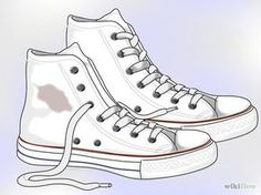 Bildtitel Clean White Converse Step 11