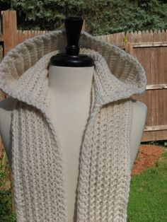 Nordic Hooded Scarf #Crochet pattern (Knit Look)