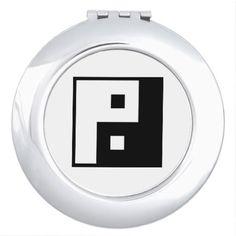 Square Yin Yang Compact Mirror