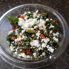 Sauteed Kale with Tomatoes and Queso Fresca Cheese