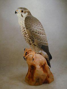 Prairie Falcon Original Wood Carving | eBay