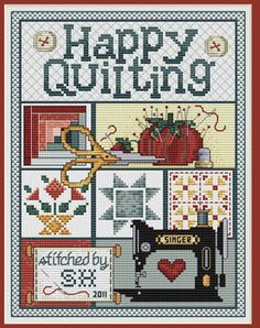 Happy Quilting - Cross Stitch Pattern