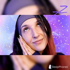 🎧 What do you listen to with your #SleepPhones?  Many people use them before bed to listen to #ASMR, podcasts, binaural beats, or guided meditations. They can also be used during the day for working from home, for listening to your favorite music around the house, or while working out.  💜 Seafoam Kitten ASMR is wearing the SleepPhones in Graphite Gray (Breeze fabric), size Medium.