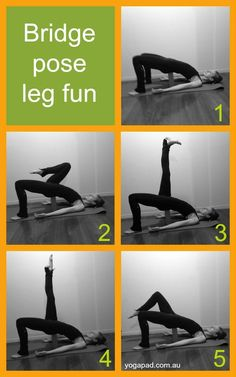 Bridge Pose Leg Fun