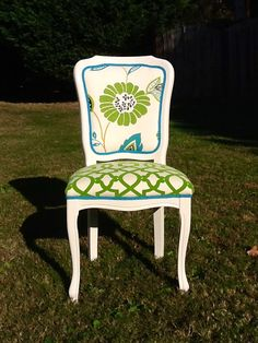 SALE Green Gem French Side Chair by OrangeNolive on Etsy, $375.00