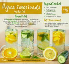 Verde y Natural: Aguas saborizadas naturales para limpiar el organismo