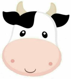 Cow _ head Cow Birthday, Farm Animal Birthday, Birthday Party Themes, Barnyard Party, Farm Party, Cubby Tags, Cow Head, Farm Theme, Animal Heads