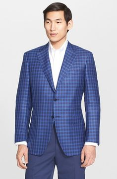 Canali Classic Fit Check Wool Blend Sport Coat available at #Nordstrom
