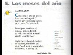 Calendario Poema Los meses del año - YouTube