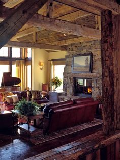 Reclaimed Wood Ceiling Beams Design, Pictures, Remodel, Decor and Ideas - page 3