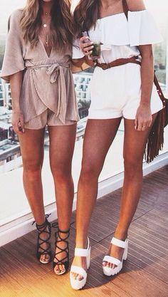 Romper + cute heels
