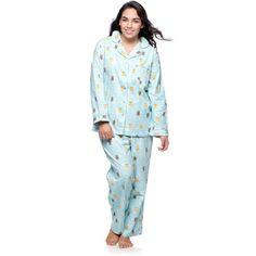 La Cera Women's Plus Size Owl Long Sleeve Pajama Set ($38) ❤ liked on Polyvore featuring plus size women's fashion, plus size clothing, plus size intimates, plus size sleepwear, plus size pajamas, blue, plus size, owl pajamas, plus size cotton pajamas and button up pajamas