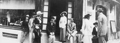 "Gabrielle Chanel and friends in front of her Deauville boutique, with Boy Capel on her right, 1913. While living with Edward ""Boy"" Capel, the love of her life, Gabrielle...magine correlata"