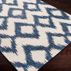 Surya Frontier Enchant Mediterranean Blue Hand Woven Flatweave Rug