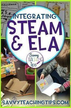 This is a very straightforward approach to STEAM and ELA in the classroom. I love how Science Technology Engineering Math Arts Reading Writing and Speaking can all be combined in one package. First Year Teachers, New Teachers, Elementary Science, Science Education, Steam Education, Gifted Education, Special Education, Teaching Tips, Teaching Reading