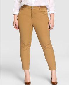 Pantalón pitillo de mujer talla grande Lauren Woman en color negro