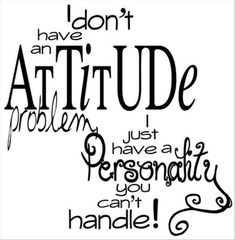 funny quotes, i do not have an attitude problem