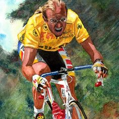 castellicycling:Soooo cool! #LaurentFignon #TDF1989 by @cyclingwatercolours