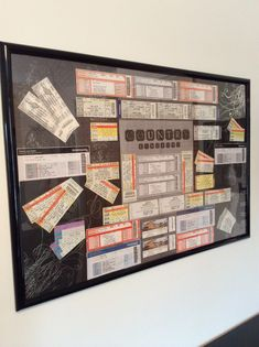 Concert Tickets Displayed